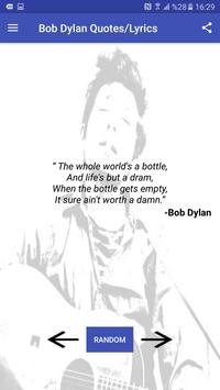 Bob Dylan Facts , Quotes  and Lyrics apk screenshot