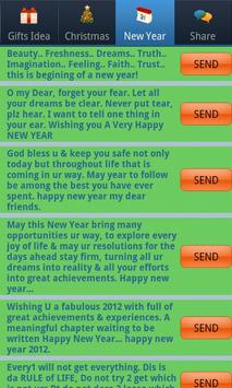 Christmas & New Year SMS Lite apk screenshot
