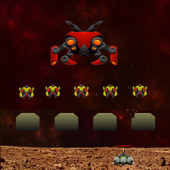 Mars Invaders - Retro space shooter icon