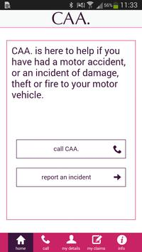 CAA. Incident Reporting App poster