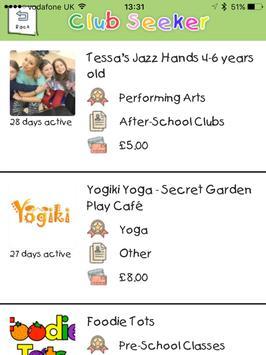 Club Hub UK - Kids Activities Directory screenshot 3