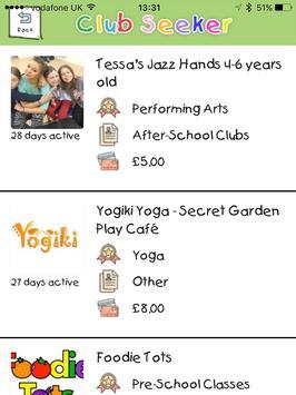 Club Hub UK - Kids Activities Directory screenshot 6