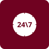 24-7 Helpline icon