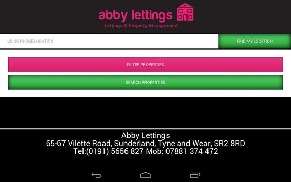 Abby Lettings poster