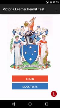 Victoria Learner Permit Test poster