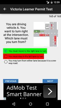 Victoria Learner Permit Test apk screenshot