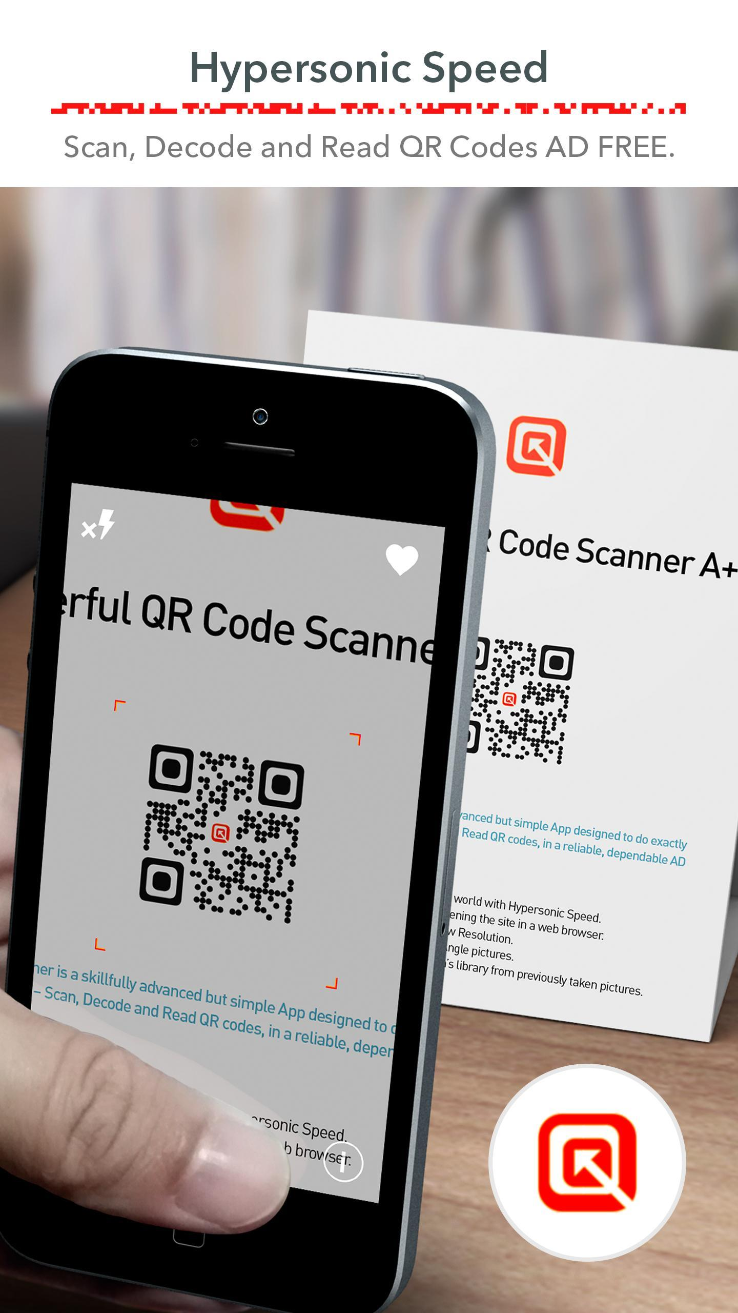 QR Code Scanner (Recommended) Free, FAST & No ADS for