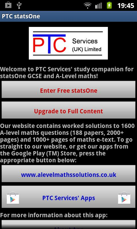PTC GCSE and A-Level statsOne for Android - APK Download