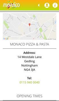 Monaco Pizza and Pasta screenshot 2