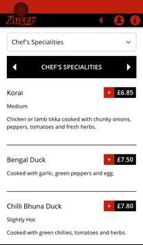 Zingaz Indian Restaurant apk screenshot