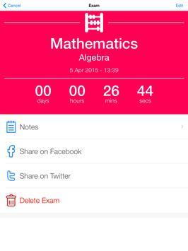 Exam Countdown apk screenshot