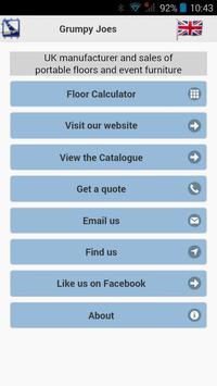 Grumpy Joes Floor Calculator poster