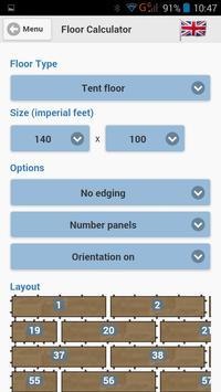 Grumpy Joes Floor Calculator apk screenshot