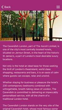The Cavendish London apk screenshot