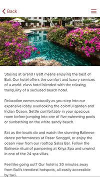 Grand Hyatt Bali apk screenshot