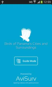 Birds of Panama's Cities poster