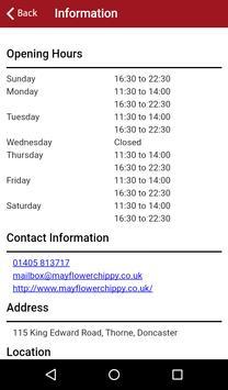 Mayflower Chippy Doncaster apk screenshot