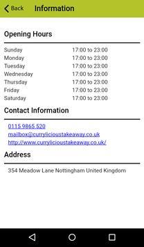 Currylicious  Nottingham apk screenshot