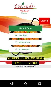 Coriander Indian Takeaway poster