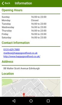 Happy Good Food Edinburgh apk screenshot