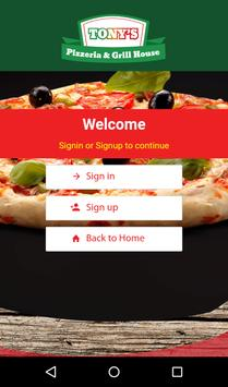 Tonys Pizzeria and Grill House apk screenshot