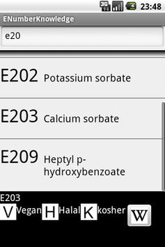 E Number Knowledge apk screenshot