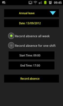 Infoease Timesheet Demo apk screenshot