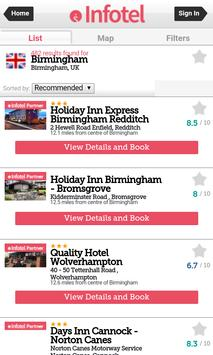 Infotel Hotel Booking App screenshot 3