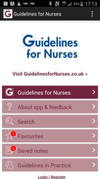 Guidelines for Nurses poster