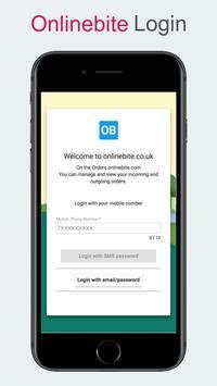 Order Taking onlinebite.co.uk poster
