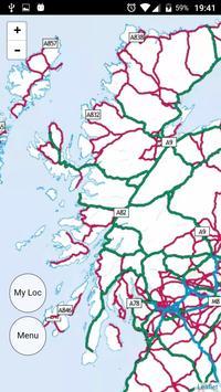 Scotland Outdoor Map Offline screenshot 2
