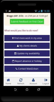 Maid2Clean Cleaner Portal apk screenshot