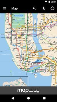 New York Subway – Official MTA map of NYC apk screenshot