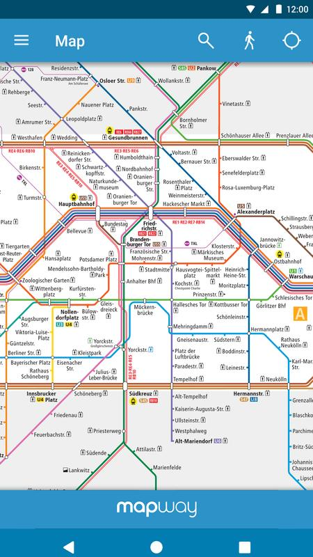 berlin subway bvg u bahn s bahn map and routes apk baixar gr tis mapas e navega o. Black Bedroom Furniture Sets. Home Design Ideas