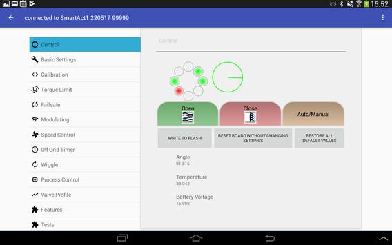 Smart Actuator Settings apk screenshot