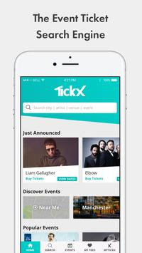 TickX - Gigs, Theatre & Comedy Tickets poster