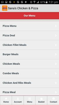 Sana's Chicken & Pizza screenshot 1