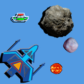 Space Rock Shoot Up Free icon