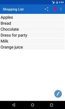 Shopping List apk screenshot