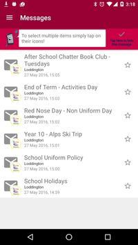 Loddington ParentMail screenshot 2