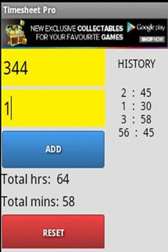 Timesheet Pro For Android screenshot 2