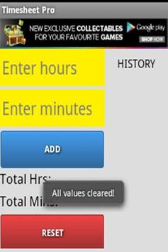 Timesheet Pro For Android screenshot 3