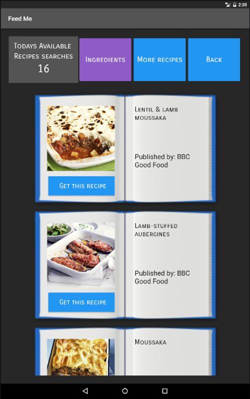 Feed me recipe finder descarga apk gratis comer y beber aplicacin feed me recipe finder captura de pantalla de la apk forumfinder Gallery