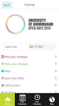 UoB Open Day Application 2016 poster