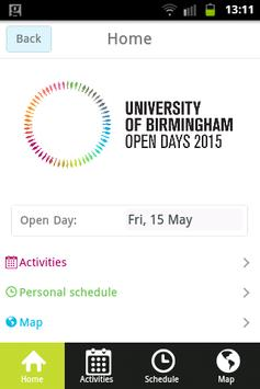 UoB Open Day Application poster