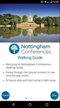 Nottingham Conferences Walking Guide poster