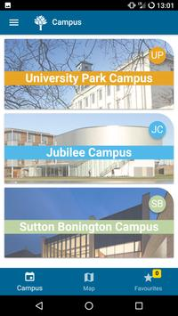 Nottingham Conferences Walking Guide poster
