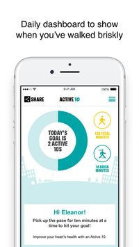 One You Active 10 Walking Tracker poster