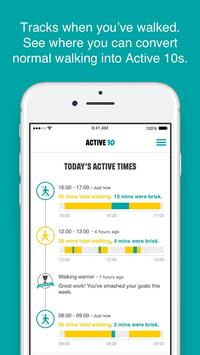 One You Active 10 Walking Tracker apk screenshot
