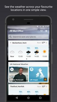 Met Office Weather Forecast poster